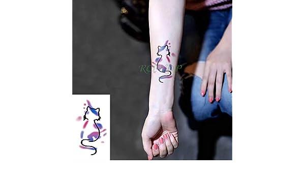 6pcs Tatuaje Impermeable engomada de la Flor del pájaro Animal ...
