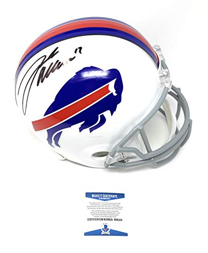 Josh Allen Buffalo Bills Signed Autograph Full Size Helmet Beckett Witnessed Certified