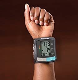 HealthSmart Standard Series Wrist Blood Pressure Monitor, Clinically Accurate LCD Display Digital Blood Pressure Monitor, Electronic Blood Pressure Monitor with 2 Person Memory
