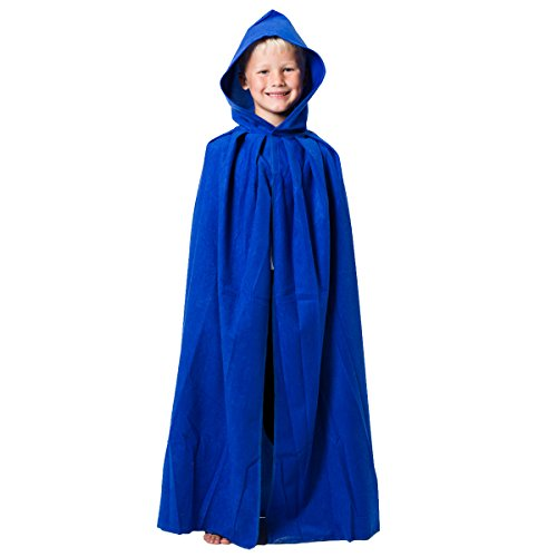 Blue Cloak or Cape with Hood