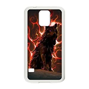 Custom Colorful Case for SamSung Galaxy S5 I9600, Wolf Cover Case - HL-R665371 hjbrhga1544