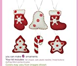Christmas Ornament DIY kit, Felt Christmas Ornament, Kids DIY kit, Sewing craft, Christmas craft kits