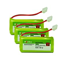 3x Pack - AT&T Vtech BT184342 / BT284342 Battery - Replacement for AT&T Cordless Phone Battery (800mAh, 2.4V, NI-MH)