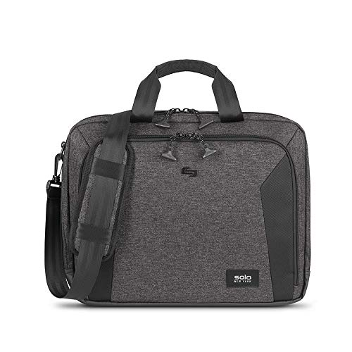 SOLO New York Nomad Voyage Briefcase, 15.6 inch Laptop Bag, Lightweight TSA Checkpoint Friendly with Shoulder Strap for Women, Men ()