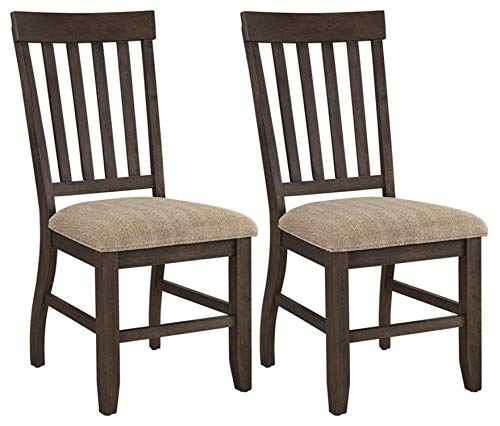 Ashley Furniture Signature Design - Dresbar Dining Room Chair - Classic Rake Back with Plush Seats - Set of 2 - Cream Finish (Ikat Upholstered Chairs)