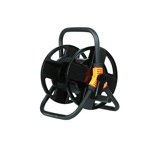 Yardwe Carrete de manguera para lavado de autos Limpieza Riego Césped y jardín Negro Tamaño S
