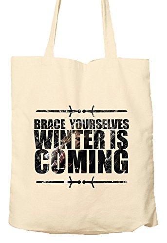 Korsett sich–Winter is coming Game of Thrones Parody–Umweltfreundlich Tasche, Natural Einkaufstasche