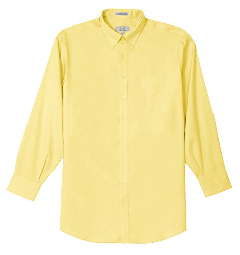 Button Down No Iron Pinpoint - Cooper and Stewart Button Down Non-Iron Pinpoint Dress Shirt - Yellow (15