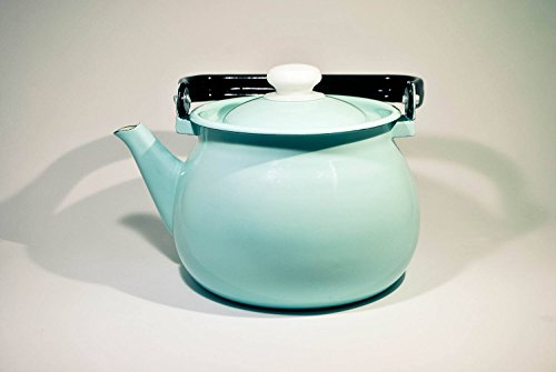 Enamel Coffee and Tea Pot. Enamel Kettle (Mint Green)