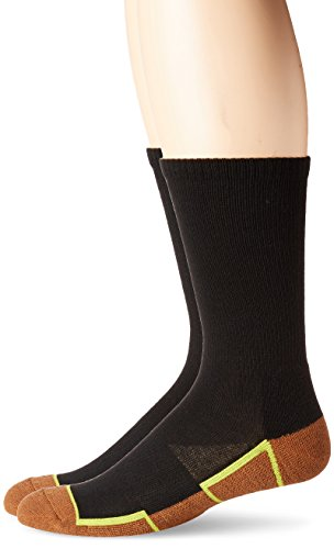 Copper Sole Mens 2 Pack Athletic Crew Socks