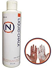 Nutrition Outlet Liquid Chalk - Mess Free Professional Gym Safe Sports Chalk - 8 Oz Refillable Value Size