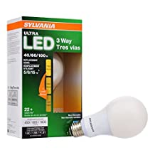 Sylvania Home Lighting 74021 A21 3-Way LED Light Bulb, 1 Pack, 4.5/8.5/15W, 80 CRI, 450/800/1600 Lumen, 2700K