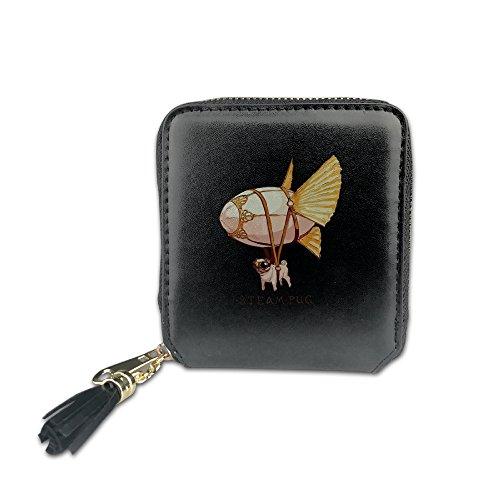 steam-pug-wallets-for-women-coin-zip-wallet