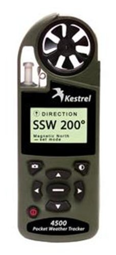 Kestrel 4500NV Weather & Environmental Meter w/Compass with NV Backlight