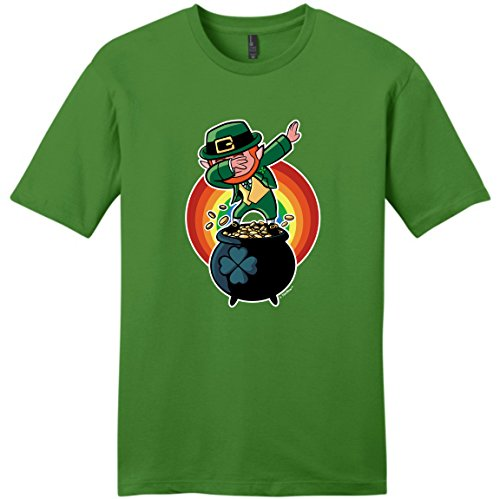 St Patricks Day Decorations Dabbing Leprechaun Funny St Patrick's Day Young Mens T-Shirt Large Kiwi (Costume Ideas For Men With Beards)