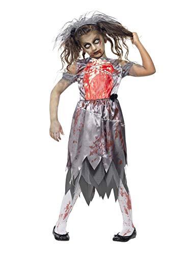 Amazon Com Smiffy S Girls Grey Zombie Bride Fancy Dress Costume