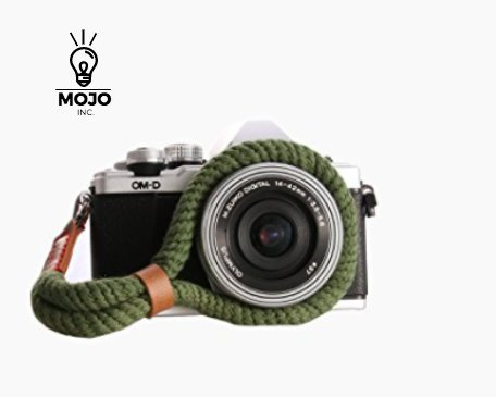 Camera Hand Strap, Green, Cotton, Comfortable, Durable, Stylish ,Adjustable, Camera Wrist Strap, Leather Camera Strap, Vintage, Easy To Attach, Cameras , Sony, Fuji, Panasonic, Nikon, Olympus, Canon