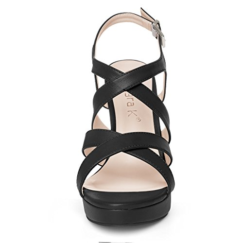 Sandals Allegra K Stiletto Straps K Cross Womens Black Womens Allegra 8wZ8qr