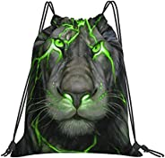Drawstring Backpack Anime Red Cloud Rucksack Cinch Water Resistant Sport Yoga Gym Bag for Boys Girls Kids Wome