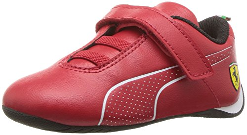 PUMA Unisex Ferrari Future Cat Ultra Velcro Kids Sneaker Rosso Corsa White, 2.5 M US Little