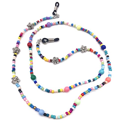 Lady Seven Colorful Beaded Eyeglass Holder for Women