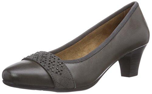 Jana 22300 - zapatos de tacón cerrados de cuero mujer gris - Grau (grau (GRAPHITE 206 ))
