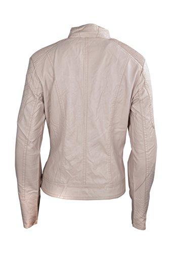signore costituiscono Leather Le Faux cuciture pianura pink donne Jacket qgSSaz