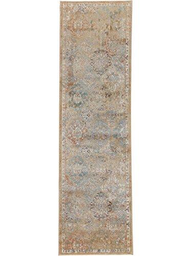 Teppich Läufer Cedar - Oeko-Tex Standard 100-Siegel - 70% Polypropylen, 30% Polyester - Vintage / Patchwork - Maschinengewebt - Flur / Diele