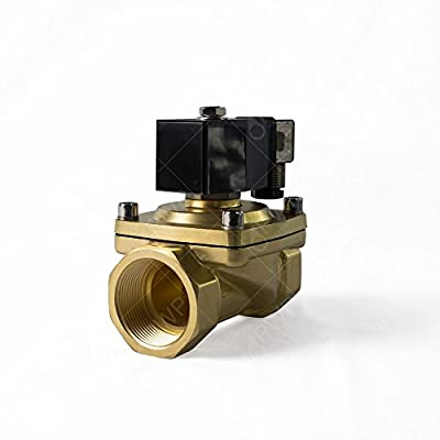 """PWP Normally Closed Brass Viton 2-Way Solenoid Valve 110V 1 1/2"""" NPT by Pro Water Parts"""