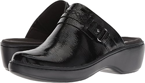 - CLARKS Women's Delana Amber Clog, Black Patent Leather, 090 W US