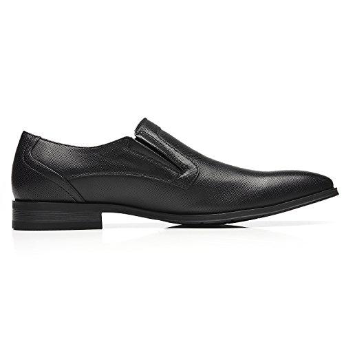 Faranzi Oxford Schoenen Voor Mannen Cap Teen Oxford Heren Dress Schoenen Zapatos De Hombre Lace Up Comfortabele Klassieke Moderne Formele Schoenen Seve-1-zwart