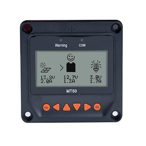 EPEVER Remote Meter MT-50 for MPPT Solar Charge Controller 10A/20A/30A/40A LCD Display Monitoring Reading Datas of Solar Panel Battery Charging Regulator System by EPsolar