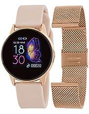 Marea Smart B58001/4 utbytbart armband roséguld stål och rosa silikon