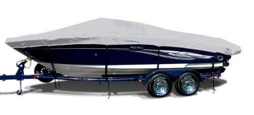 Arctic Silver Exact Fit Boat Cover Fitting 1995-1997 Sea Ray 175 Fish/ski W/port Troll Mtr O/B Models, Sharkskin (Sea Ray Ski)