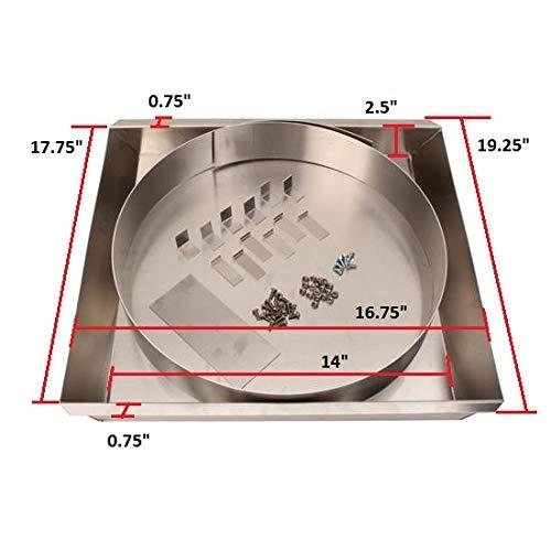 Aluminum Fan Shroud Kit for 22 Inch Radiator Engine Driven Fan