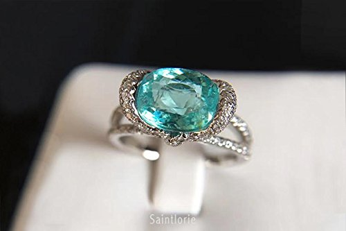 2.6 Carat Paraiba Tourmaline Engagement Ring ()