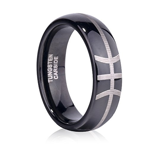 Tusen Jewelry Sports-Symbology Basketball Tungsten Ring for your NBA season 6MM Size 7-13