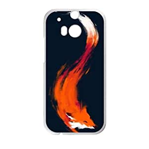 HTC One M8 Cell Phone Case White The Quick Orange-Red Fox Twglc