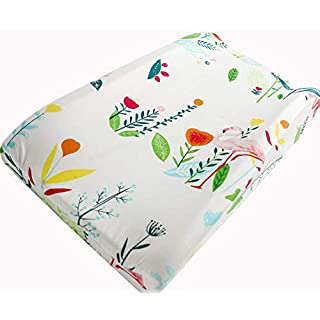 Sahaler Baby Changing Pad Cover Girl Original Cotton Changing Table Pad Diaper Liners Baby Changing Table Cover - Flamingo