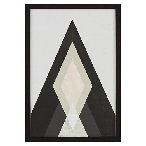 Rivet Modern Abstract Diamond Print I, Black Frame, 14'' x 20'' by Rivet