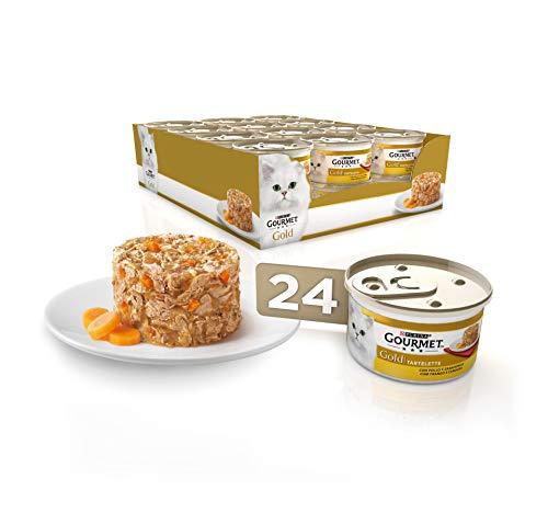 🥇 Purina Gourmet Gold Tartalette comida para gatos con Pollo y Zanahoria 24 x 85 g