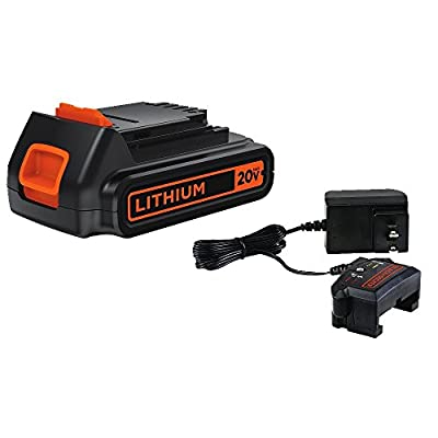 BLACK+DECKER 20V MAX Lithium Battery & Charger (LBXR20CK)