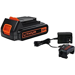 1 of BLACK+DECKER 20V MAX Lithium Battery & Charger (LBXR20CK)