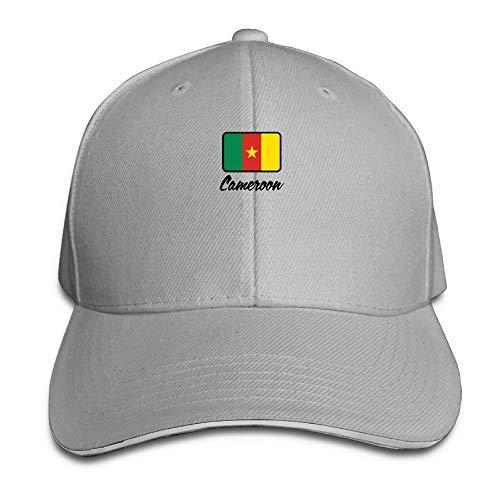 (Men Women National Flag of Cameroon Fashion Peaked Sandwich Hat Sports Adjustable Baseball Cap Unisex)