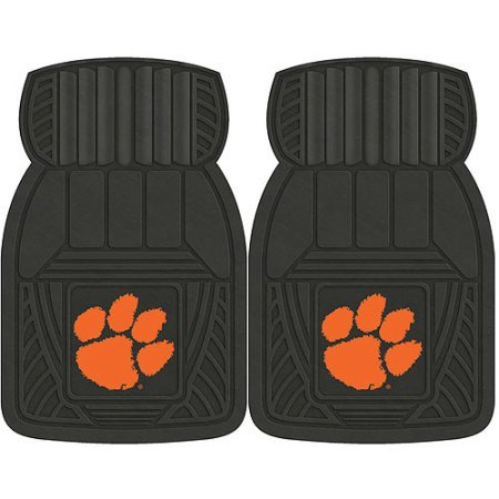 NCAA 4-Piece Front #36572608 and Rear #19888843 Heavy-Duty Vinyl Car Mat Set, Clemson University by Sports Licensing Solutions LLC