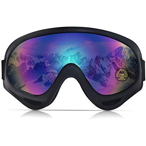 PHYLES Lunettes de Ski, Masques Snowboard pour Adultes et Enfants – Protection UVA 100% (Multicolore)