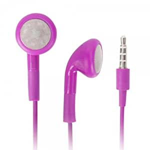 Purple 3.5mm Stereo Fashion Earphone Headsets with Microphone for Samsung SCH-R360 (By Things Needed)