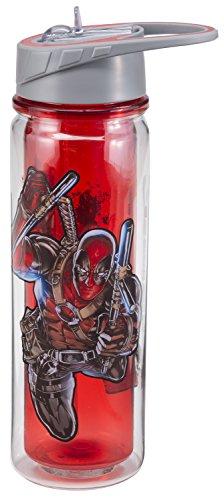 Vandor  Marvel Deadpool 18 Oz. Tritan Water Bottle 26175 -