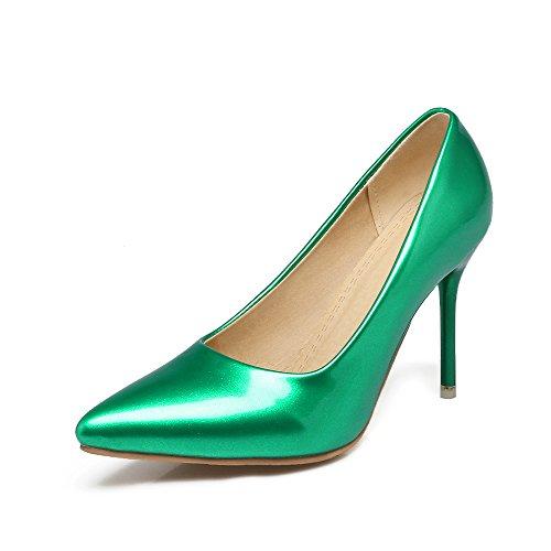 Shoes Stiletto Green Sexy Women Black Pointed Pumps JIEEME Court Toe Heels Green High Women Party Ladies 10xwqE6f