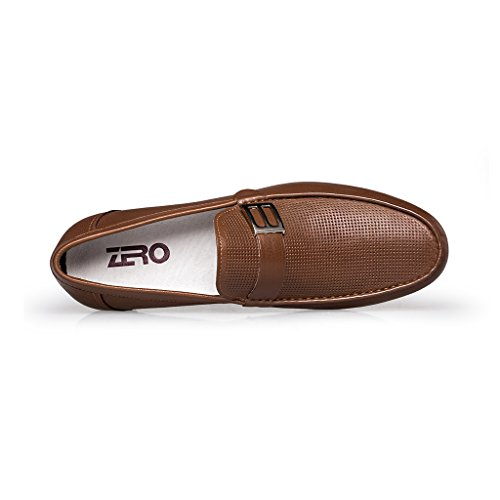 ZRO Men's Summer Casual Buckle Slip-On Hollow Breathable Brown US 8.5 by ZRO (Image #2)